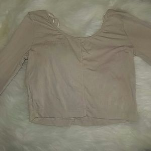 Tan crop top from Forever 21